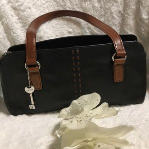 FOSSIL LEATHER SATCHEL